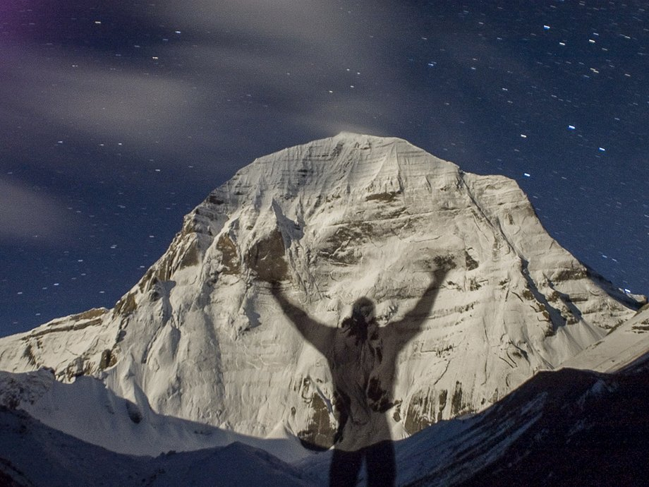 Kailash north face in the moonlight